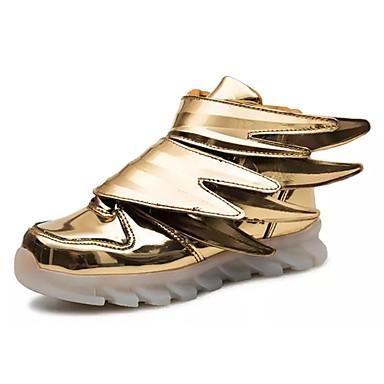 Dla dziewczynek Obuwie PU Jesień Świecące buty Buty do lekkiej atletyki Spacery Szurowane na Atletyczny Gold Black