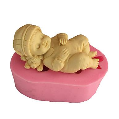 Backwerkzeuge Silikon Umweltfreundlich / 3D Kuchen / Plätzchen / Obstkuchen Schlafen Baby Backform 1pc