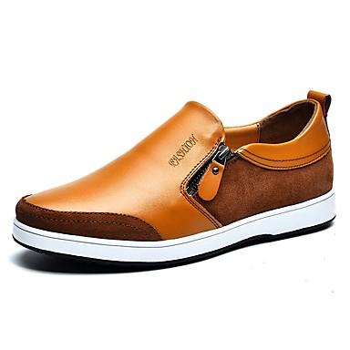 Męskie Komfortowe buty Skóra / Derma Wiosna / Jesień Mokasyny i buty wsuwane Czarny / Żółty / Niebieski