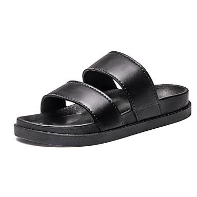 Herre sko PU Sommer Komfort Sandaler Til Hvit Svart
