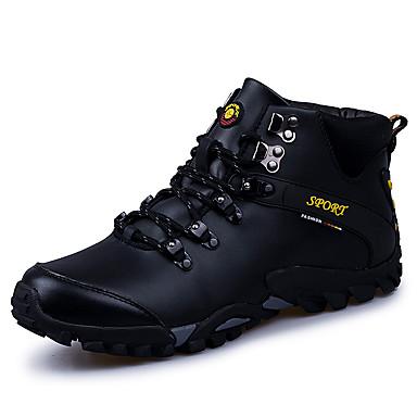 Męskie Fashion Boots Skóra Jesień / Zima Buty do lekkiej atletyki Turystyka górska Kozaczki / kozaki do kostki Czarny / Brązowy