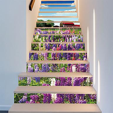 Kwiatowy/Roślinny 3D Naklejki Naklejki ścienne 3D Dekoracyjne naklejki ścienne, Winyl Dekoracja domowa Naklejka Ściana