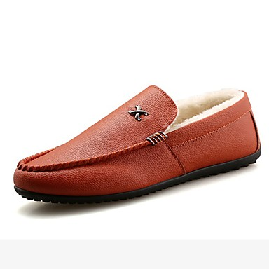 Herrn Schuhe PU Winter Mokassin Loafers & Slip-Ons für Normal Weiß Schwarz Orange