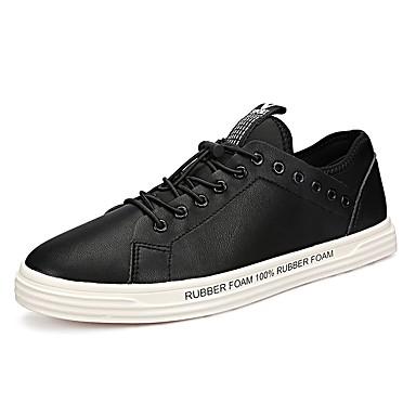 Herren Schuhe Künstliche Mikrofaser Polyurethan Frühjahr, Herbst, Winter, Sommer Komfort Leuchtende Sohlen Sneakers Für Normal Schwarz