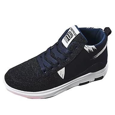 Męskie Buty PU Materiał Wiosna Jesień Comfort Tenisówki Szurowane na Casual Black Niebieski