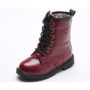 baratos Sapatos de Criança-Para Meninos Courino Botas Little Kids (4-7 anos) / Big Kids (7 anos +) Conforto Preto / Vermelho Outono / Inverno