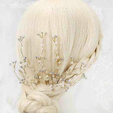 Kryształ Imitacja pereł Kryształ górski Stop Szpilka do włosów 1szt Ślub Specjalne okazje Winieta
