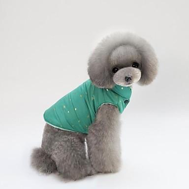 Kot Pies Płaszcze Yelek Odzież odporna na zimno Święta Bożego Narodzenia Ubrania dla psów Czerwony Green Różowy Bawełna Kostium Dla
