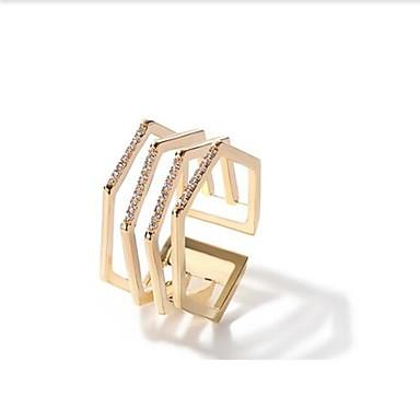 Damskie mankiet Pierścień 1 Gold Stop Geometric Shape Metaliczny Modny Inny Codzienny Biżuteria kostiumowa