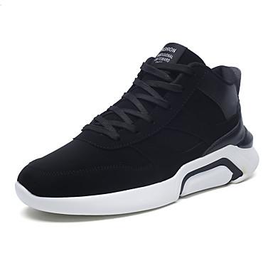 Męskie Buty Zamsz Zima Jesień Comfort Tenisówki Spacery Na Atletyczny Casual Black Gray Black/White