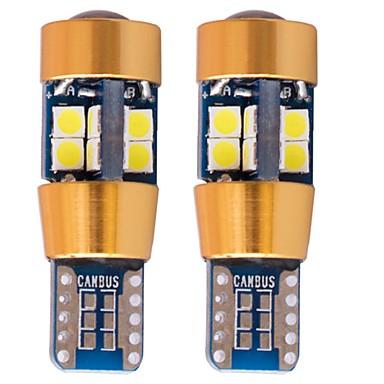2 stücke t10 led-leuchten canbus auto keil lampe lichtkuppel leselicht 3030 19smd weiß / rot / blau / gelb / eisblau dc12-24v