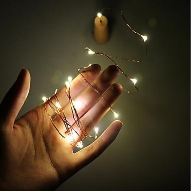 Łańsuchy świetlne 20 Diody LED Ciepła biel <5V
