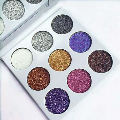 1 stk glittere enkelt øjenskygge diamant regnbue make up