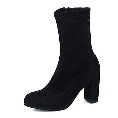 Mulheres Sapatos Couro Ecológico Verão Conforto Mocassins e Slip-Ons Caminhada Salto Robusto Dedo Aberto Presilha para Ao ar livre Preto