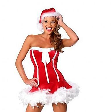 Seksowny Święto Sukienki Kostium imprezowy Damskie Boże Narodzenie Karnawał Bal maskowy Urodziny Festiwal/Święto Kostiumy na Halloween