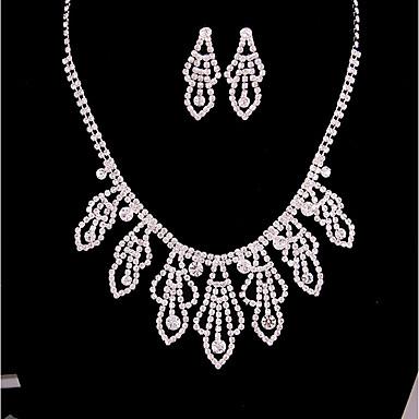 Damskie Biżuteria Ustaw Zestawy biżuterii, Bridal Jewelry Sets - Posrebrzany Silver