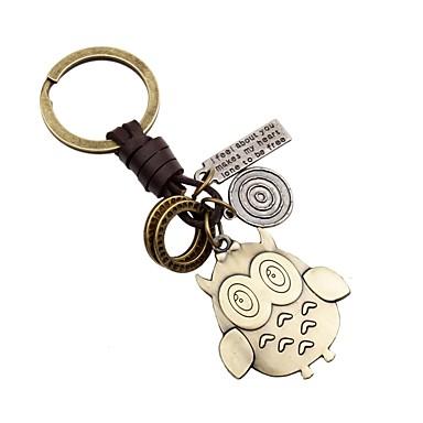 Łańcuszek do kluczy Złoty Nieregularny Stop Zwierzęta Na Urlop
