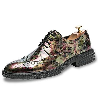 Herren Schuhe PU Frühling Herbst Komfort Outdoor Schnürsenkel Für Normal Schwarz Gelb