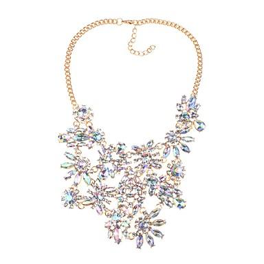 Damskie Kryształ Naszyjniki z wisiorkami - Kryształ Duże, Klasyczny, Moda Złoty, Czarny Naszyjniki Biżuteria Na Impreza, Ceremonia