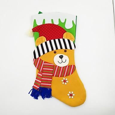 Rekwizyty świąteczne Dekoracje bożonarodzeniowe Zabawki Skarpetki Niedźwiedź Święto XL Święto Kostiumy Św. Mikołaja Dla dorosłych Sztuk