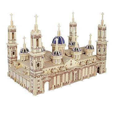 Zabawki 3D Puzzle Drewniane modele Model Bina Kitleri Domy Moda Plaza del Pilar Katedra Pilar Klasyczny Moda New Design Dzieci Gorąca
