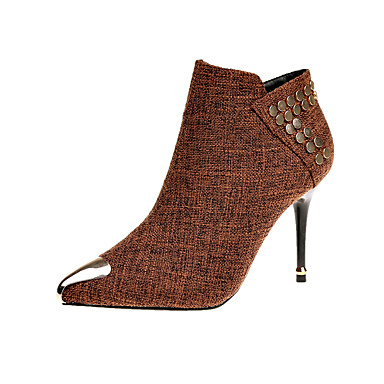 Women's Shoes PU(Polyurethane) Spring / Fall Comfort / Basic Pump Heels Low Heel Pointed Toe Black / Brown / Party & Evening / Dress