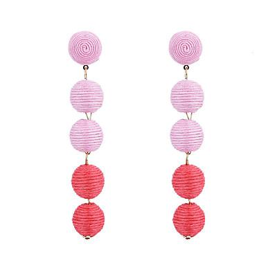 Damskie Kolczyki wiszące Modny Lina konopna Stop Circle Shape Owalne Biżuteria Czerwony Green Niebieski Różowy Codzienny Wyjściowe