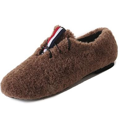 Damskie Obuwie Guma Zima Comfort Mokasyny i pantofle Okrągły Toe na Na wolnym powietrzu Black Khaki