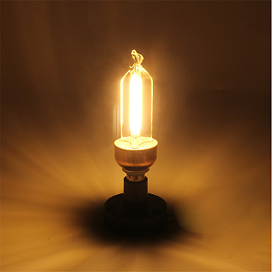 1pc 5 W 400 lm E14 LED Glühlampen C35 4 LED-Perlen COB Warmes Weiß 220-240 V / RoHs