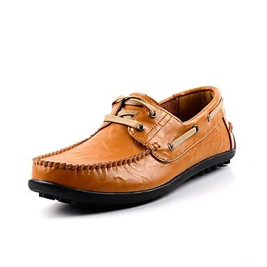 Herren Schuhe Herbst Komfort Bootsschuhe für Normal Schwarz Blau Hellbraun