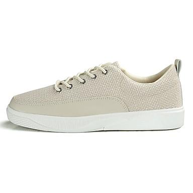 Herren Schuhe Stoff Frühjahr, Herbst, Winter, Sommer Komfort Leuchtende Sohlen Sneakers Für Normal Weiß Schwarz Beige