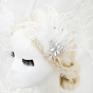 rhinestone pióro klatka dla ptaków zasłony 1szt nakrycia głowy klasyczny kobiecy styl