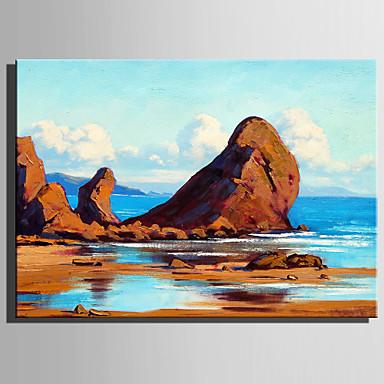 Ręcznie malowane Krajobraz Pionowy, Rustykalny Nowoczesny Brezentowy Hang-Malowane obraz olejny Dekoracja domowa Jeden panel