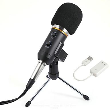 KEBTYVOR Mk-F200FL Przewodowy / a Mikrofon zestawy Mikrofon kondensatorowy Profesjonalny Na PC, notebooków i laptopów