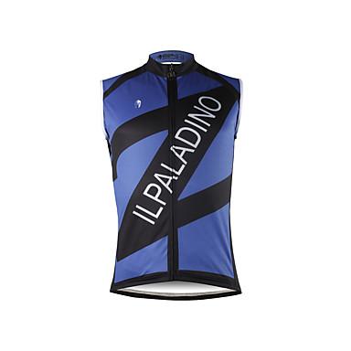 ILPALADINO Męskie Bez rękawów Koszulka rowerowa - Dark Blue Rower Kamizelka Koszulka, Quick Dry