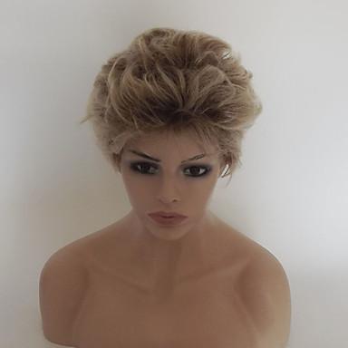 Peruki syntetyczne Kędzierzawy Fryzura asymetryczna / Z grzywką Włosy syntetyczne Włosy ombre / Naturalna linia włosów Blond Peruka Damskie Krótki Bez czepka