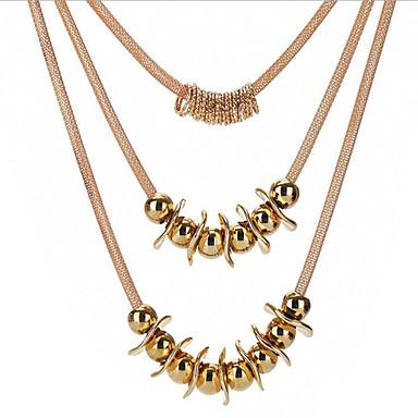 Damskie Pozłacane Naszyjniki z wisiorkami - Metaliczny Circle Shape Gold Naszyjniki Na Codzienny Praca