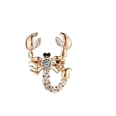 Damskie Broszki Kryształ Rhinestone Prosty Elegancki Kryształ Stop Gold Biżuteria Na Codzienny Casual
