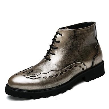 Męskie Komfortowe buty Derma Wiosna Buciki Złoty / Czarny