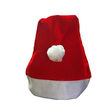 Święto Kostiumy Św. Mikołaja Christmas Hat Czerwony Tkanina Akcesoria do cosplay Boże Narodzenie