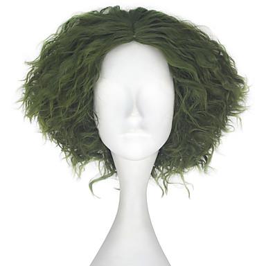 Peruki syntetyczne Kinky Curly Włosy syntetyczne Zielnony Peruka Męskie Krótki cosplay peruka / Peruka naturalna / Lolita Wig Bez czepka