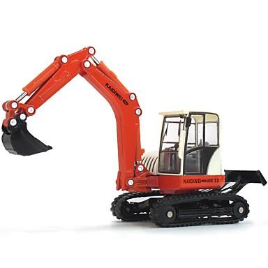 Koparka Pojazdy budowlane i ciężarówki do zabawy Samochodziki do zabawy Zabawka edukacyjna 1:87 Klasyczna Obrotową głowicę Miękkiego