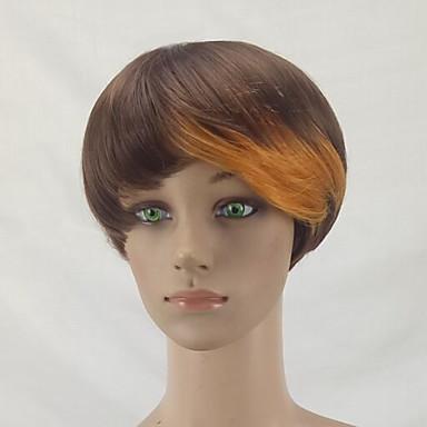 Peruki syntetyczne Prosto Fryzura Pixie Włosy syntetyczne Blond Peruka Damskie Krótki Peruka naturalna / Celebrity Wig Bez czepka