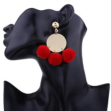 Damskie Kolczyki wiszące Kolczyki koła Na co dzień Ponadgabarytowych Modny Słodkie Flanela Polar Stop Geometric Shape Biżuteria Black