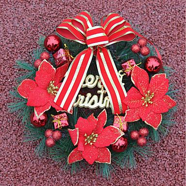 1szt. Ozdoby świąteczne wianek na dekoracje świąteczne 30 * 30