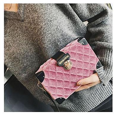 Damen Taschen Nylon Samt Schultertasche Knöpfe für Normal Alle Jahreszeiten Schwarz Rote Rosa Grau Dunkelgrün