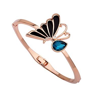 baratos Bangle-Mulheres Zircônia Cubica Bracelete Pulseiras Algema Com Laço Coreano Fashion Zircão Pulseira de jóias Ouro Rose Para Rua Bandagem