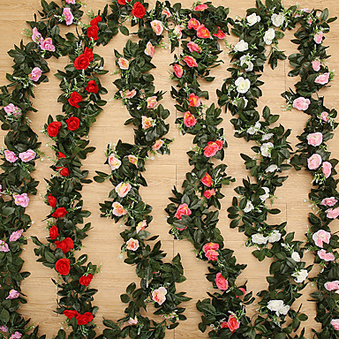 cheap Artificial Flowers-Artificial Flowers 1 Branch Modern Style Wedding Roses Plants Tabletop Flower
