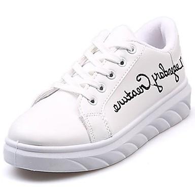 Damen Schuhe Gummi Winter Komfort Sneakers Runde Zehe Schnürsenkel Für Weiß Schwarz Rot