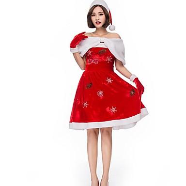 Kostiumy Św. Mikołaja Święty Mikołaj Świąteczna sukienka Boże Narodzenie Halloween Karnawał Oktoberfest Nowy Rok Festiwal/Święto Kostiumy